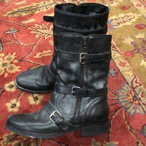 Amazing J crew motorcycle black boots booties 10M
